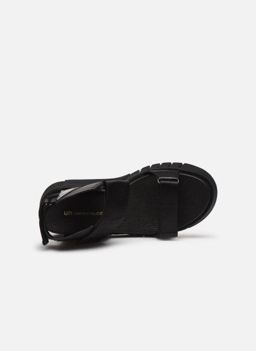 Sandales et nu-pieds United Nude Delta Run Noir vue gauche