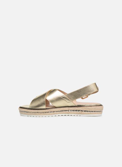 Sandales et nu-pieds COSMOPARIS EKATERINA Or et bronze vue face