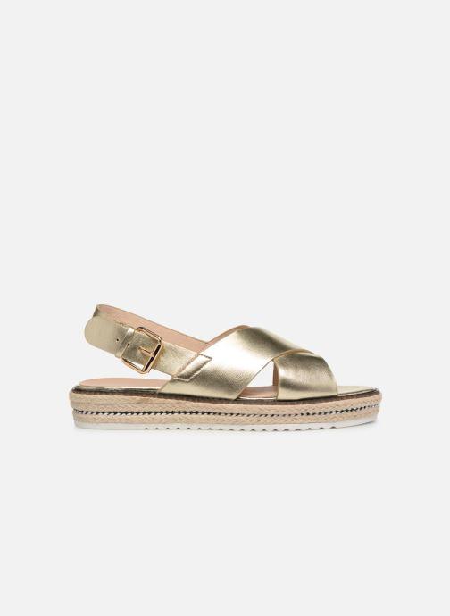 Sandales et nu-pieds COSMOPARIS EKATERINA Or et bronze vue derrière