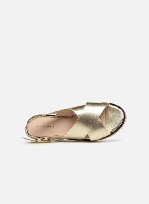 Sandals COSMOPARIS EKATERINA Bronze and Gold view from the left