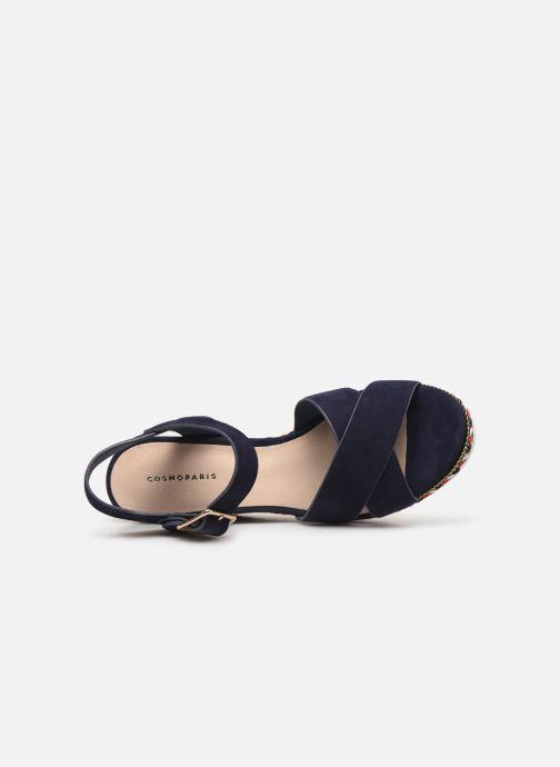 Sandales et nu-pieds COSMOPARIS EKKO Bleu vue gauche