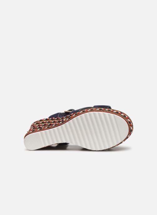 Sandales et nu-pieds COSMOPARIS EKKO Bleu vue haut