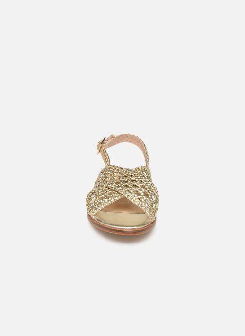 Sandali e scarpe aperte COSMOPARIS HESSI Oro e bronzo modello indossato
