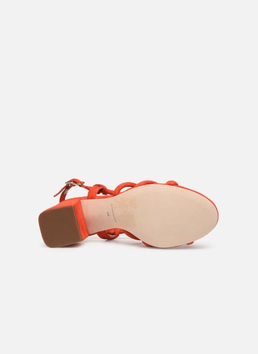 Sandales et nu-pieds COSMOPARIS JADALINA Orange vue haut