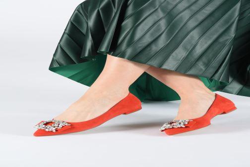 Bailarinas COSMOPARIS MANEA Rojo vista de abajo