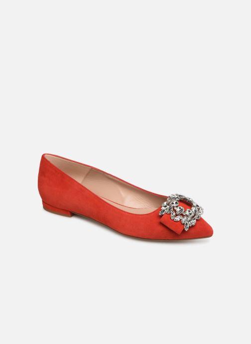 Ballerinaer COSMOPARIS MANEA Rød detaljeret billede af skoene