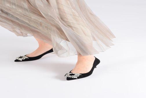 High heels COSMOPARIS MEMIA Black view from underneath / model view