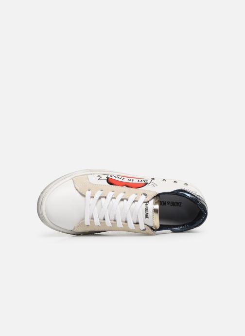 Baskets Zadig & Voltaire BASKET COEUR X19006 Blanc vue gauche