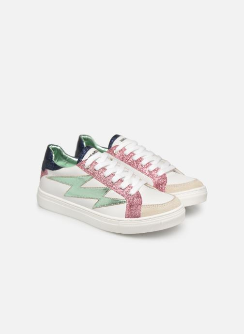 Sneakers Zadig & Voltaire BASKET ECLAIR X19006 Wit 3/4'