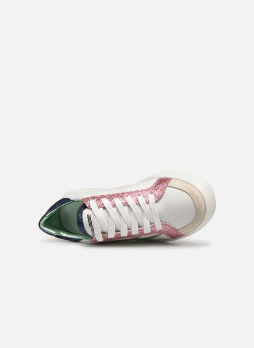 Sneakers Zadig & Voltaire BASKET ECLAIR X19006 Wit links