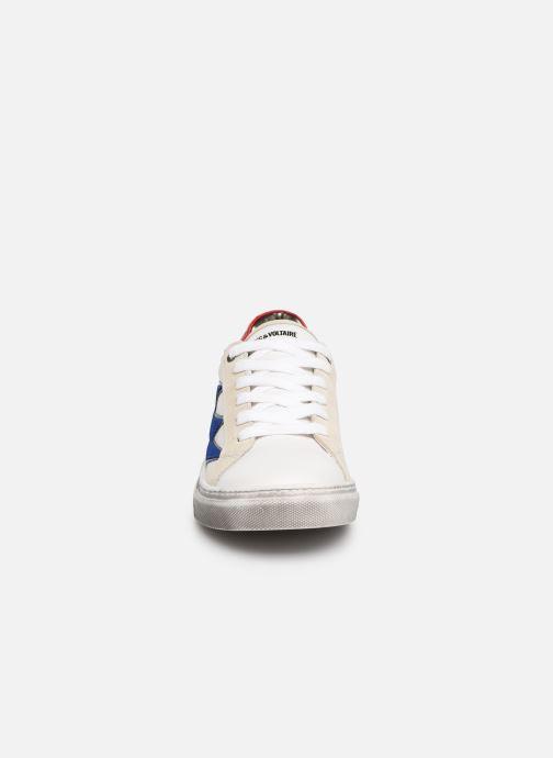 Baskets Zadig & Voltaire BASKET GARCON X29008 Blanc vue portées chaussures