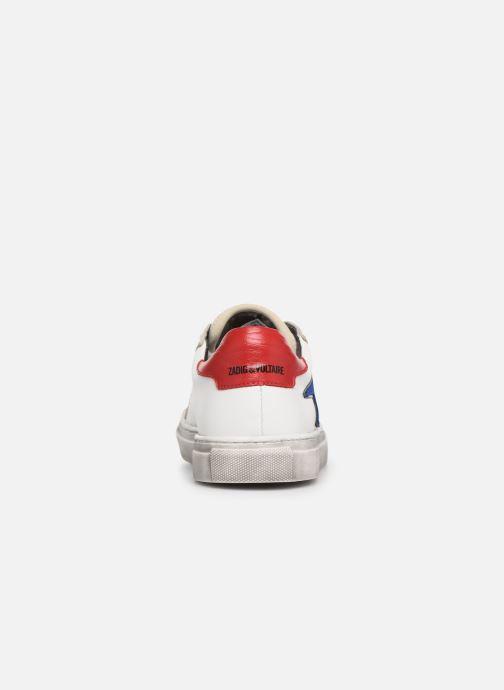 Baskets Zadig & Voltaire BASKET GARCON X29008 Blanc vue droite