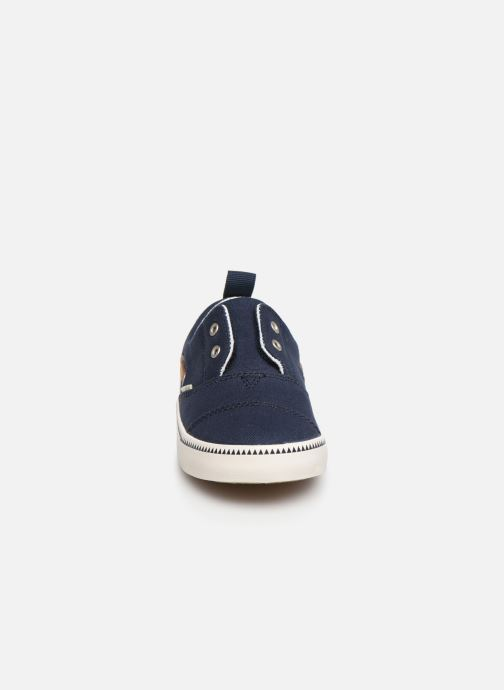 Baskets TOMS Pasadena BB Bleu vue portées chaussures