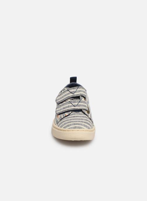 Baskets TOMS Lenny Bleu vue portées chaussures