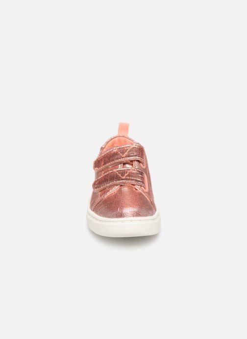 Baskets TOMS Lenny Or et bronze vue portées chaussures