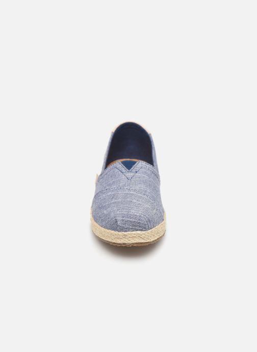 Espadrilles TOMS Alpargata Espadrille Bleu vue portées chaussures