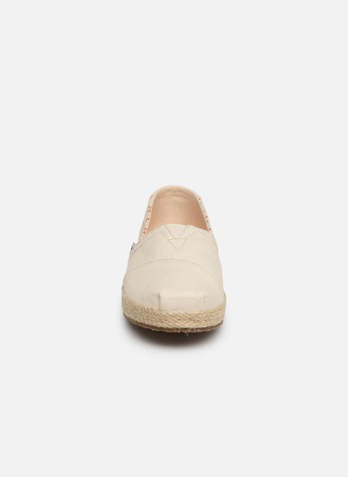 Espadrilles TOMS Alpargata Espadrille Beige vue portées chaussures