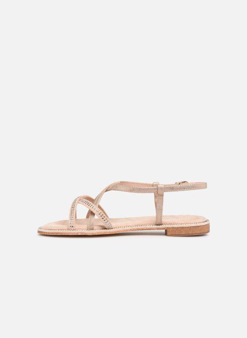 Sandals Xti 56860 Beige front view