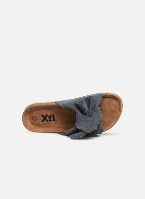 Sandalen Xti 56849 blau ansicht von links