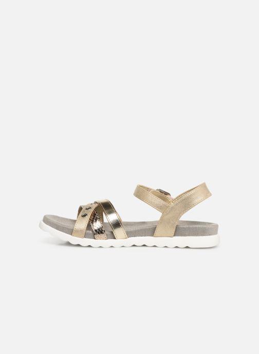 Sandales et nu-pieds Xti 56693 Or et bronze vue face