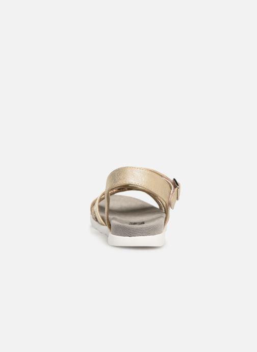 Sandales et nu-pieds Xti 56693 Or et bronze vue droite