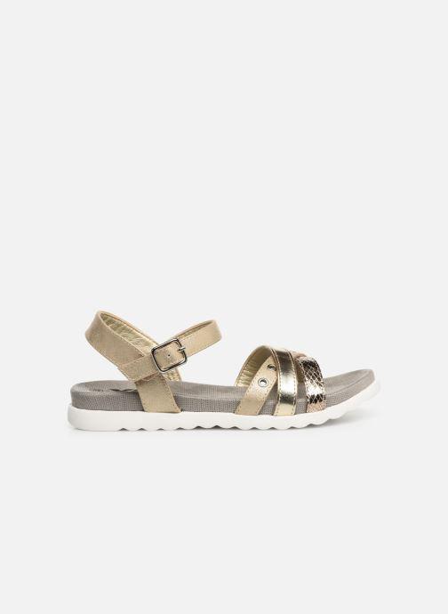 Sandales et nu-pieds Xti 56693 Or et bronze vue derrière
