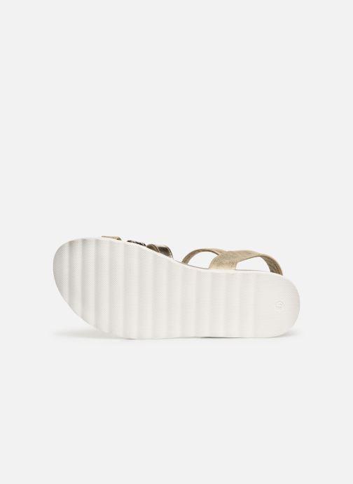 Sandales et nu-pieds Xti 56693 Or et bronze vue haut