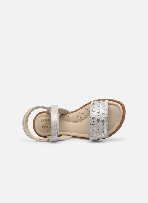 Sandals P-L-D-M By Palladium Sandy Silver view from the left