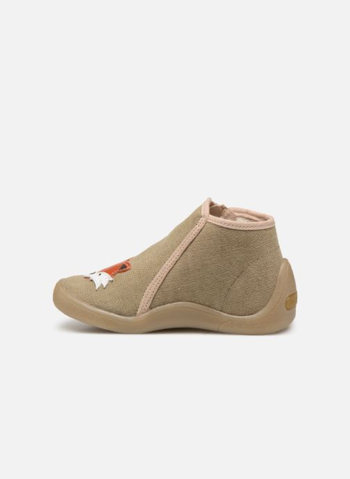 Chaussons Babybotte Mouky Beige vue face