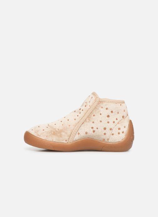 Pantoffels Babybotte Monaco Beige voorkant