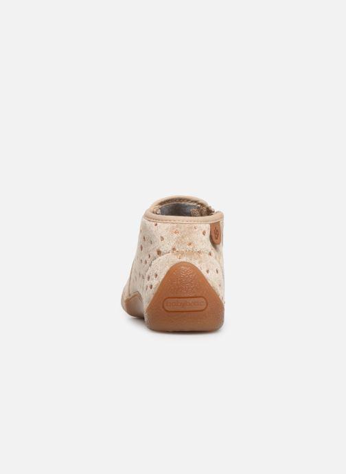 Pantoffels Babybotte Monaco Beige rechts