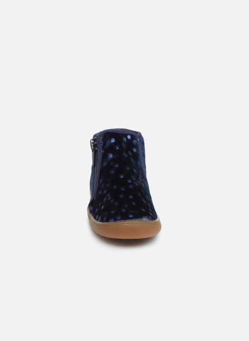 Chaussons Babybotte Monaco Bleu vue portées chaussures