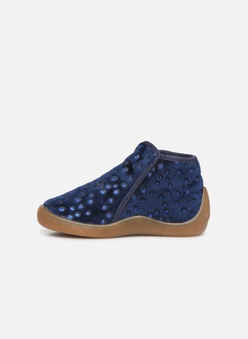 Slippers Babybotte Monaco Blue front view