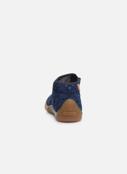 Slippers Babybotte Monaco Blue view from the right