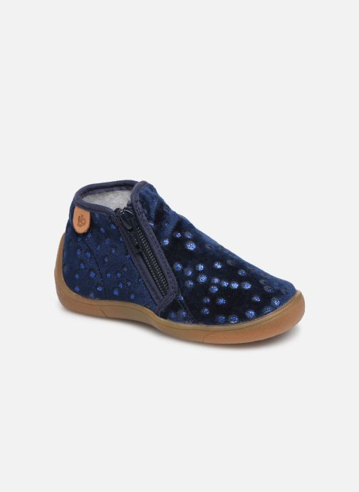 Slippers Babybotte Monaco Blue detailed view/ Pair view