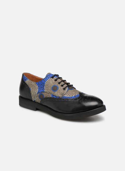 Lace-up shoes Made by SARENZA Pastel Affair Chaussures à Lacets #4 Blue view from the right