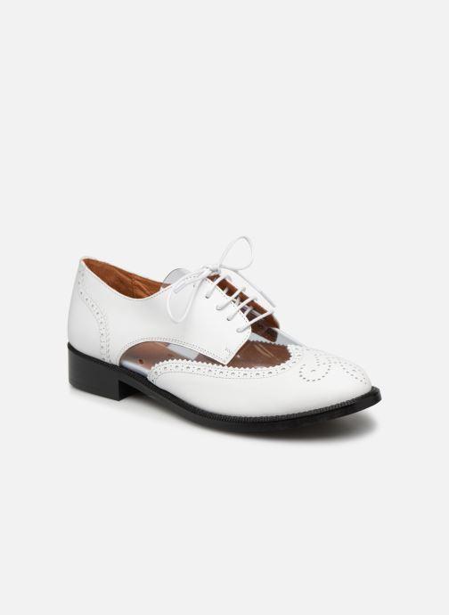 Zapatos con cordones Made by SARENZA Pastel Affair Chaussures à Lacets #4 Blanco vista lateral derecha