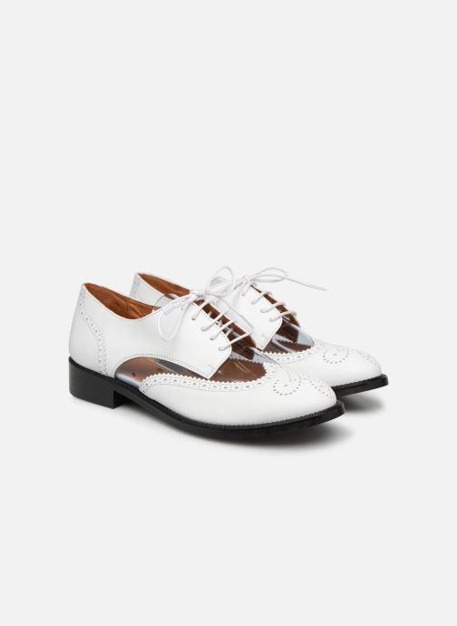 Schnürschuhe Made by SARENZA Pastel Affair Chaussures à Lacets #4 weiß ansicht von hinten