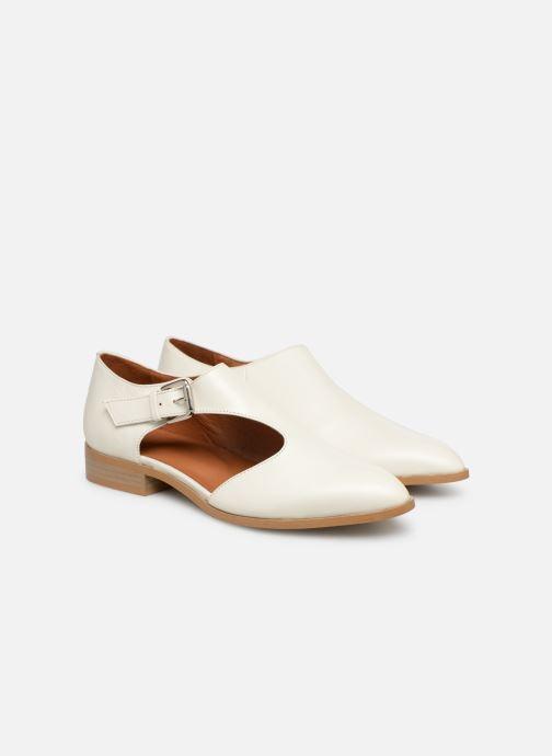 Mocassins Made by SARENZA Pastel Affair Chaussures à Lacets #2 Blanc vue derrière