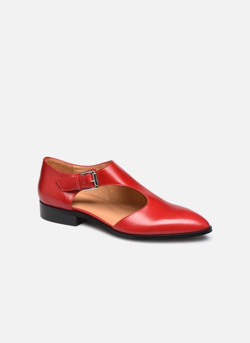 Mocasines Made by SARENZA Summer Folk Souliers #1 Rojo vista lateral derecha