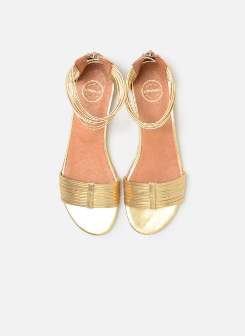 Sandalias Made by SARENZA UrbAfrican Sandales Plates #1 Oro y bronce vista del modelo