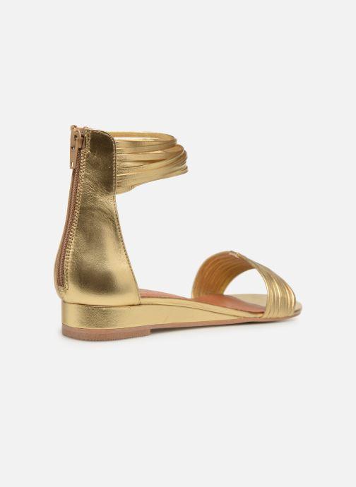 Sandales et nu-pieds Made by SARENZA UrbAfrican Sandales Plates #1 Or et bronze vue face