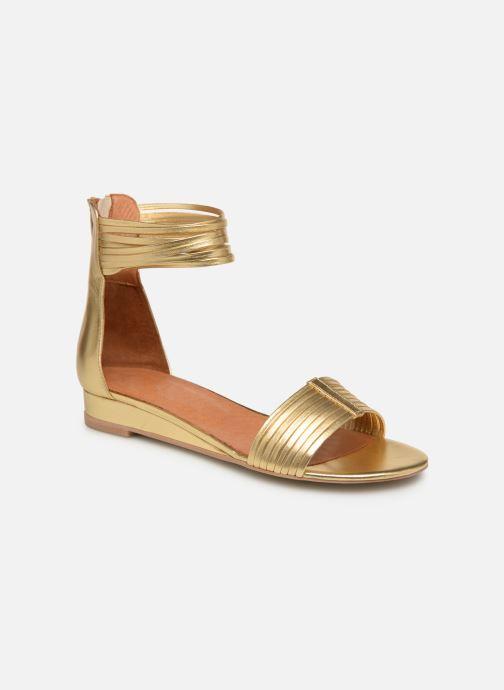 Sandales et nu-pieds Made by SARENZA UrbAfrican Sandales Plates #1 Or et bronze vue droite