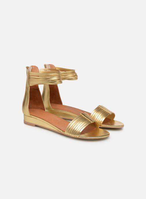 Sandales et nu-pieds Made by SARENZA UrbAfrican Sandales Plates #1 Or et bronze vue derrière