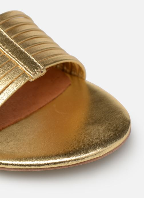Sandales et nu-pieds Made by SARENZA UrbAfrican Sandales Plates #1 Or et bronze vue gauche