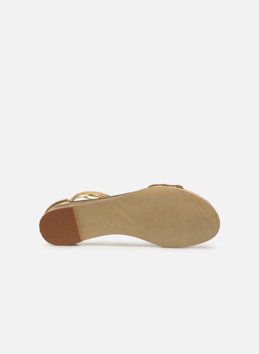 Sandales et nu-pieds Made by SARENZA UrbAfrican Sandales Plates #1 Or et bronze vue haut