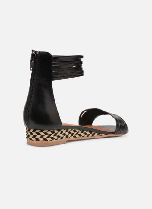Sandales et nu-pieds Made by SARENZA UrbAfrican Sandales Plates #1 Noir vue face