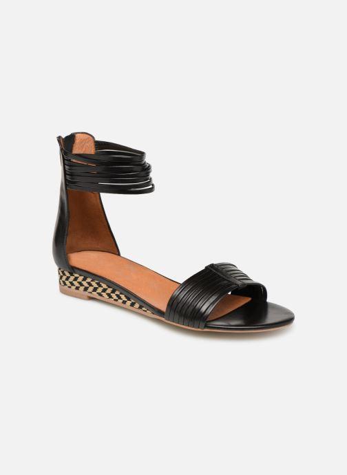 Sandales et nu-pieds Made by SARENZA UrbAfrican Sandales Plates #1 Noir vue droite