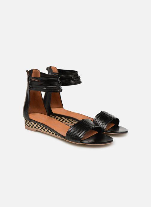Sandales et nu-pieds Made by SARENZA UrbAfrican Sandales Plates #1 Noir vue derrière