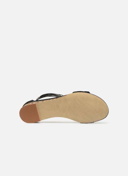 Sandales et nu-pieds Made by SARENZA UrbAfrican Sandales Plates #1 Noir vue haut